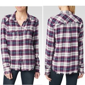 Paige Flannel Shirt Top Medium